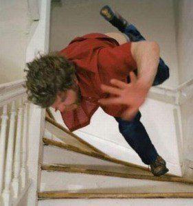 ostion escaleras, caída escaleras