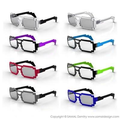 Pixel gafas, gafas geek, gafas 2.0