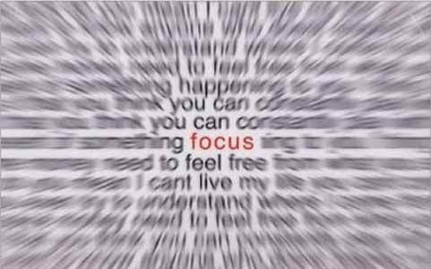 Ilusion optica Texto enfocar