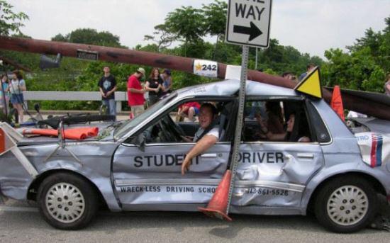 Accidente coche y vision