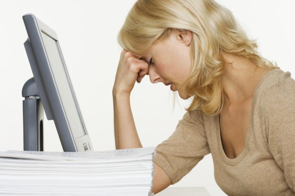 pantalla fatiga, ordenador cansancio