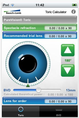 aplicaciones móviles lentes contacto