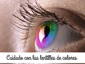 peligro lentes contacto color fantasia