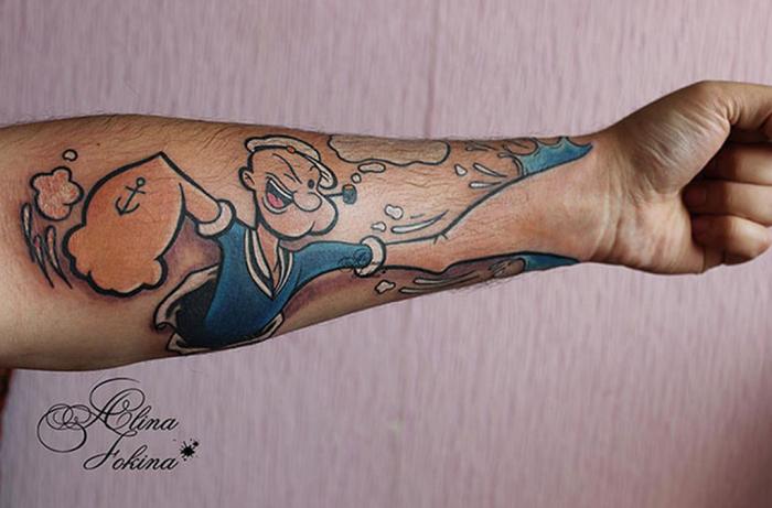 tatuaje ilusion optica 14