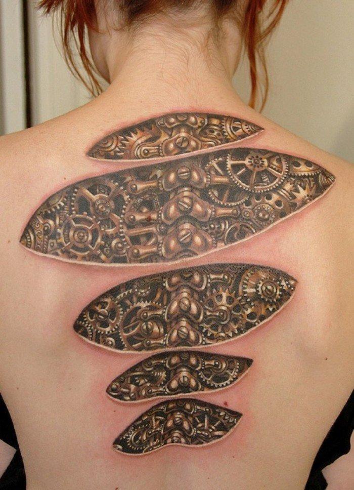 tatuaje ilusion optica 8