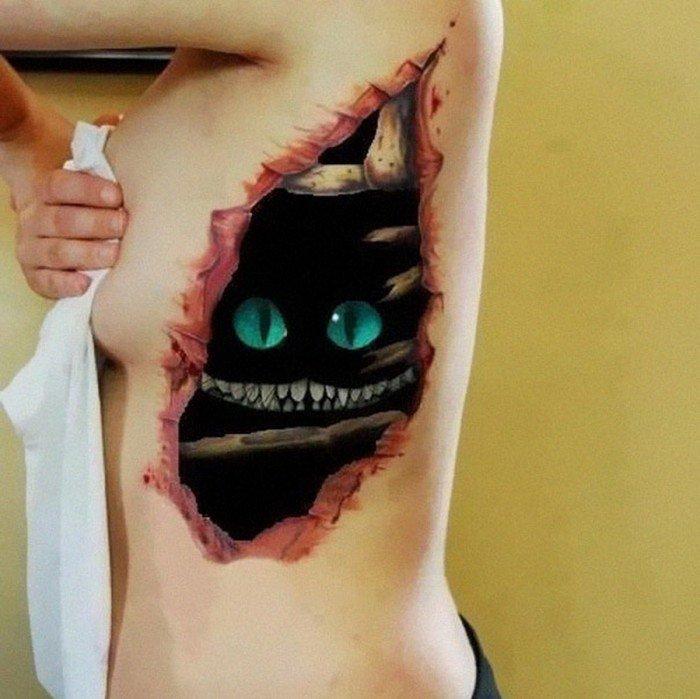 tatuaje ilusion optica 9