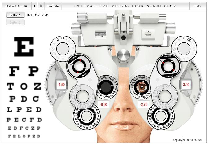 examen visual foroptero